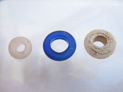3 Ancient Celtic Glass Beads Celts VERY RARE!  TOP !!