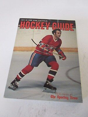 Pro & Amateur Hockey Guide - Sporting News  - 1977-78