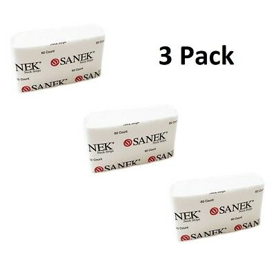 Sanek - Neck Strips, 180 Total, White, New