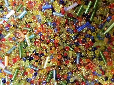 80g Seed bead Bugle mix Multi colour jewellery making beads findings kit loose
