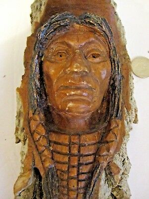 Cottonwood Hand Carved Native American Wall Hanging, Dale Webb, Libby Montana