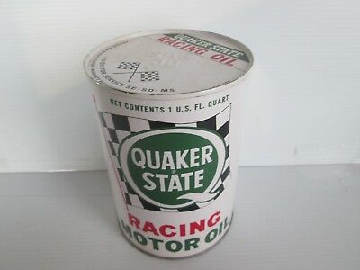 Quaker State Metal  Racing Oil Can With Flags