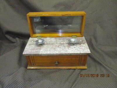 Antique Pharmacy Apothecary Balance Scale Marble Druggist Jeweler Scale