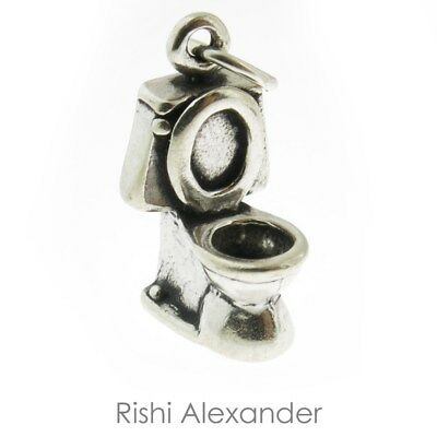 925 Sterling Silver Toilet Charm Made in USA