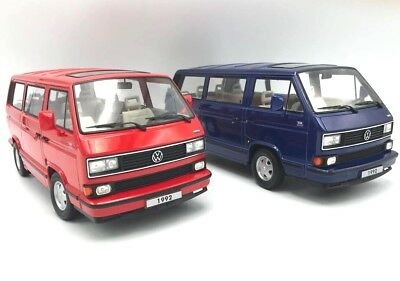 set volkswagen vw t3 multivan limited last edition 1992 rot blau 1 18 kk scale eur 69 90. Black Bedroom Furniture Sets. Home Design Ideas