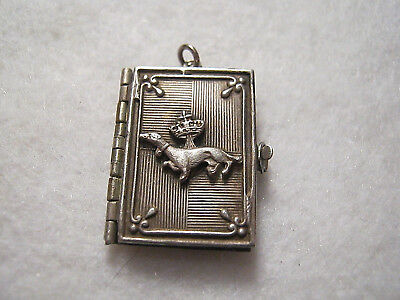 ANTIQUE ART NOUVEAU FRENCH LANGEAIS PHOTO ALBUM BOOK LOCKET PENDANT - Rare!