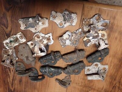 CAST IRON  Vintage Shutter Hinges hangers and latches Primitive Steampunk Decor