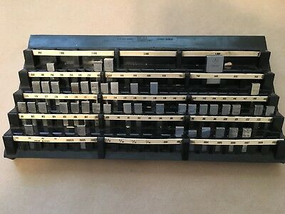 Gage block set (Partial) Mixed Starrett and Pratt and Whitney,others .