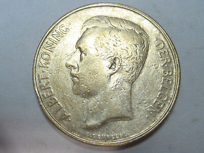 Belgium 1911 Silver 2 FRANCS  Extra Fine (.835 Silver) 10 gm - minted 1 million