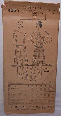 Vintage 1920's Pictorial Patterns Dress Pattern #4856 - Size 20 - 38 Bust