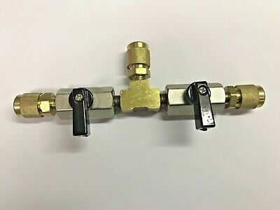 "Vacuum Pump Or Refrigerant Isolation Valve, 3/8"" Male Flare Hose Connections"