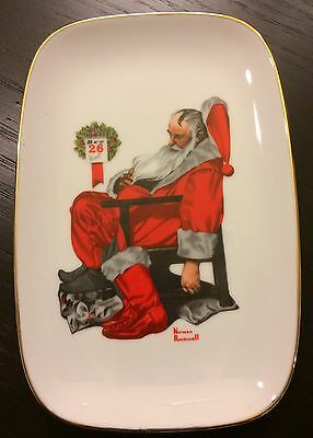 Norman Rockwell 1981 The Day After Christmas Plate Oblong Vintage Collector Rare