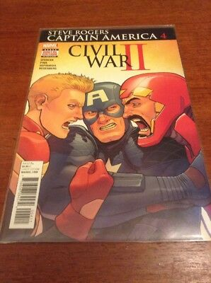 Steve Rogers: Captain America #4 Civil War II (Marvel, Spencer, First Print)