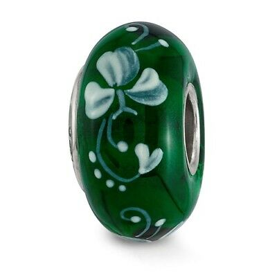 Sterling Silver Reflections Hand Painted An Irish Blessing Glass Bead