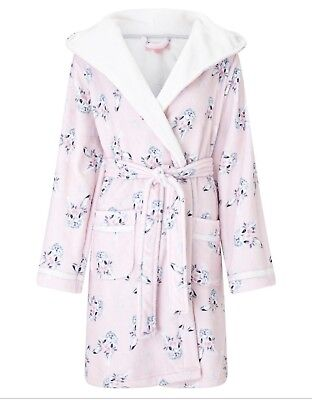 Lipsy Ladies Pale Pink Cute Bunny Design Supersoft Robe Dressing Gown Uk  8-14 eb7fbdb6c