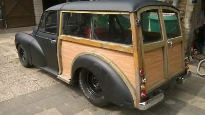 Morris Minor Woody Traveller Rover V8 Dragster 1/4 Meile Einzelstück Hot Rod