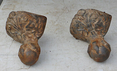 Pair of Antique Eagle Claw and Ball Feet from Antique Bathtub