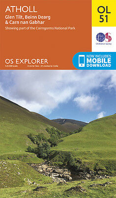 ATHOLL Map - OL 51 - OS - Ordnance Survey - *NEW*  INC. MOBILE DOWNLOAD