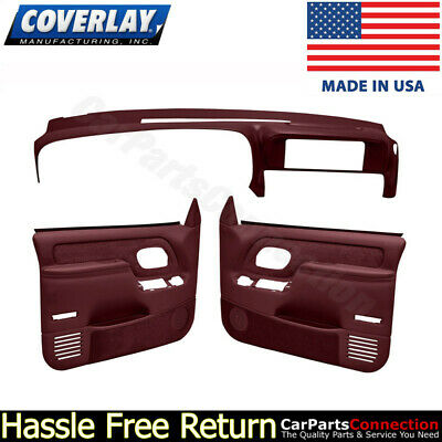 Coverlay Dash Board Cover Red 18-652-RD For Chevelle Front Upper