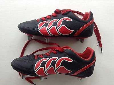 Canterbury Rugby Boots Red & Black Size 5 Hardly Worn Original Cost £40