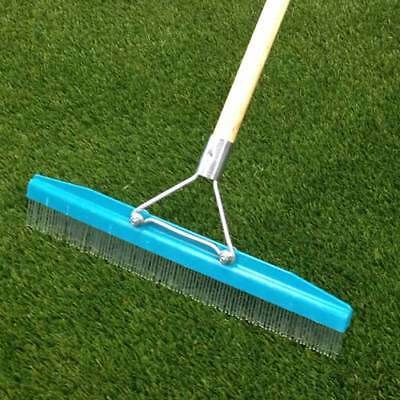Grandi Groom Artificial Synthetic Stand Up Turf Grass Rake Home Garden Brush
