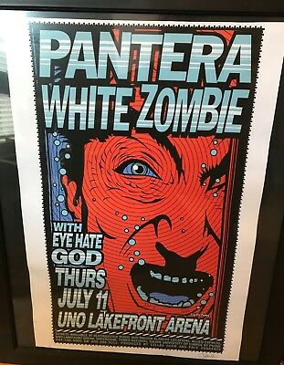 Pantera and White Zombie Concert Poster RARE New Orleans, LA