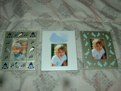 "3 NEW 2"" x 3"" INFANT OR TODDLER BOYS OR GIRLS PICTURE FRAMES--LAST 3"