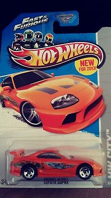 2013 Hot Wheels Fast & Furious Toyota Supra  New In The Package, On Hand, Htf