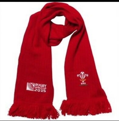 Rugby World Cup 2015 Wales Scarf Rugby Uniion Flag Red BNWT