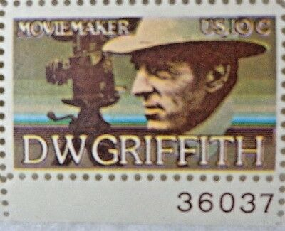10 Cents D W Griffith Movie Maker US Postage 1 Sheet 20 Stamps