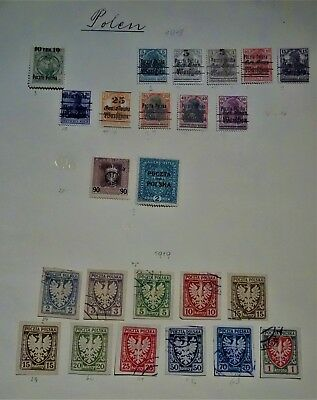 NO RESERVE - Early stamps, Poland, mainly 1918-1930