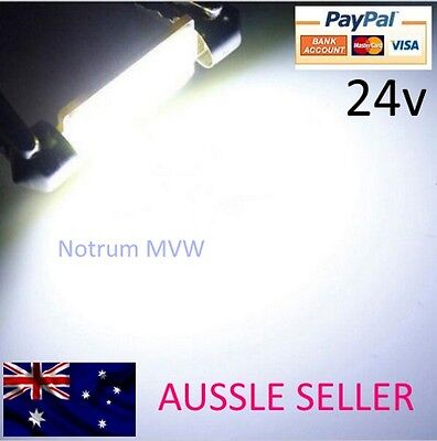 1x 24V Festoon 36mm COB LED White Light C5W Truck 4wd Caravan Bus Bulb Globe 6k