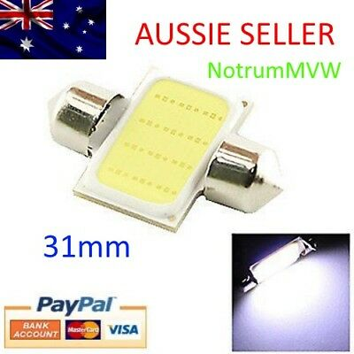 1x 24V Festoon 31mm COB LED White Light C5W Truck 4wd Caravan Bus Bulb Globe 6k