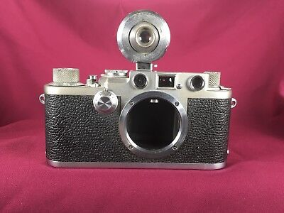 1953 leica DRP IIIF GmbH Red Top w/ Imiarcet Viewfinder sn 655570