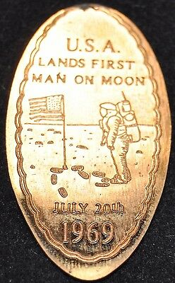 ECO-2: Vintage Elongated cent - FIRST MOON LANDING July 20th 1969 (Astronaut)