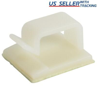 25pcs Simple Adhesive Cable Routing Clip for Cord Management, Large