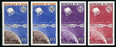 Space Raumfahrt 1971 Niger ITU UIT Satellit 290 A U + Proof Perf Imperf MNH/1228
