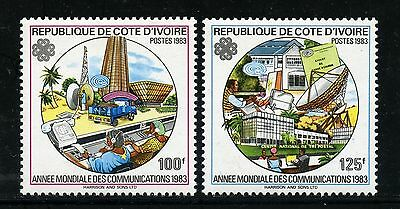 Space Raumfahrt 1983 Ivory Coast World Communications Year A-B804 MNH/1093