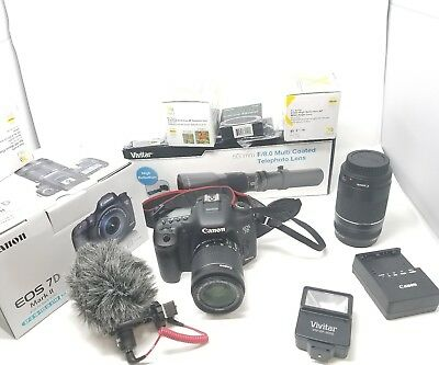 Canon EOS 7D Mark II Digital SLR Camera Bundle with Lens, Cleaning Kit , Mic mor