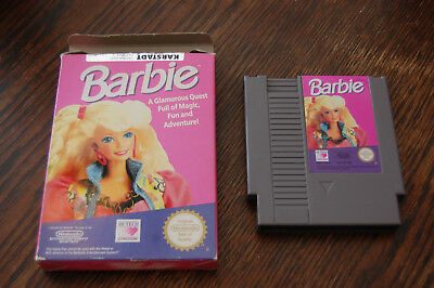 EUROPEAN VERSION: Barbie NES Nintendo Game in Box NOE PAL-B NO MANUAL