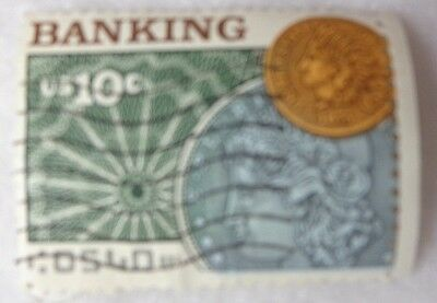 10 Cents Banking US Postage Stamp