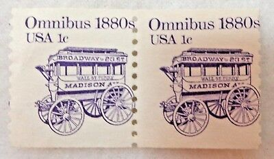 Omnibus 1880s Madison Stagecoach USA 1 ¢ 1983 US Postage Stamps