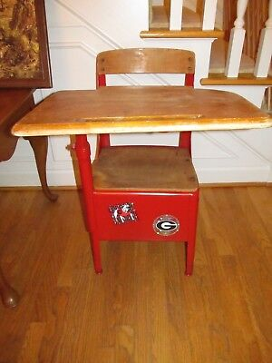 """Vintage Old School Chair Youth Student Desk Kids Furniture Large 31"""" Table"""