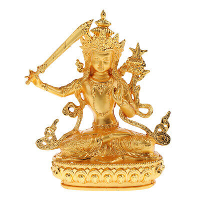Buddha Buddhism Manjusri Bodhisattva Model Figure Blessing for Lucky Safety