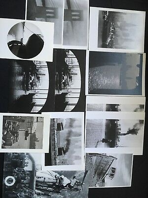 14 pc lot of archival photos postcards notecards of ships boats cities
