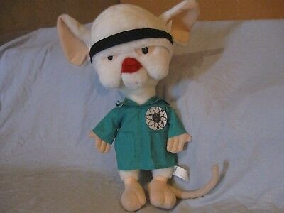 Warner Bros ANIMANIACS PINKY and the Brain PLUSH DOLL 1997 WB cartoon 18""