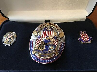 9/11 COMMEMORATIVE, COLLECTIBLE LAW ENFORCEMENT BADGE Obsolete