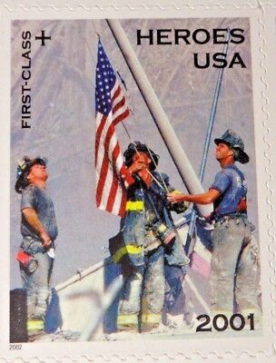 2001 41c 20 First Class Heroes USA US Postage Stamps