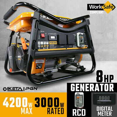 Petrol Generator 4200W Max Site Camping Portable Power Supply
