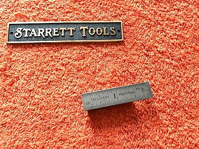"""STARRETT No.303   2"""" Long Spring-Tempered Steel Rule With 4R & End Graduations."""